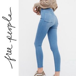 Free People Easy Go Denim Legging Jeggings Hi Rise